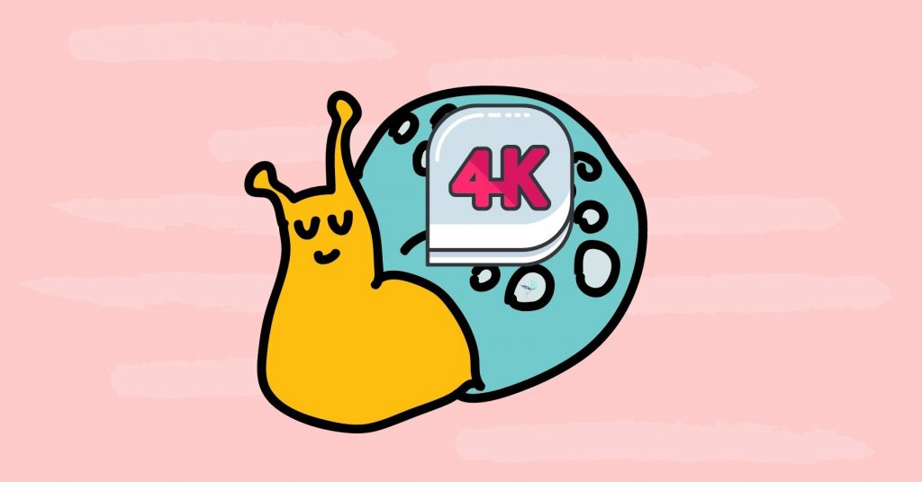 illustration of a snail with 4k designation