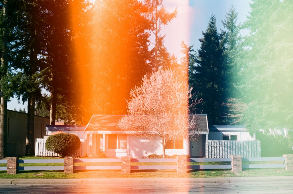 image of light leak on film photo