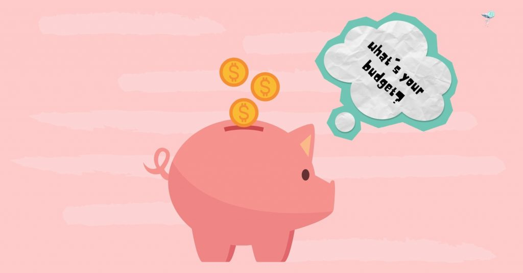 illustration of piggy bank asking what your budget is