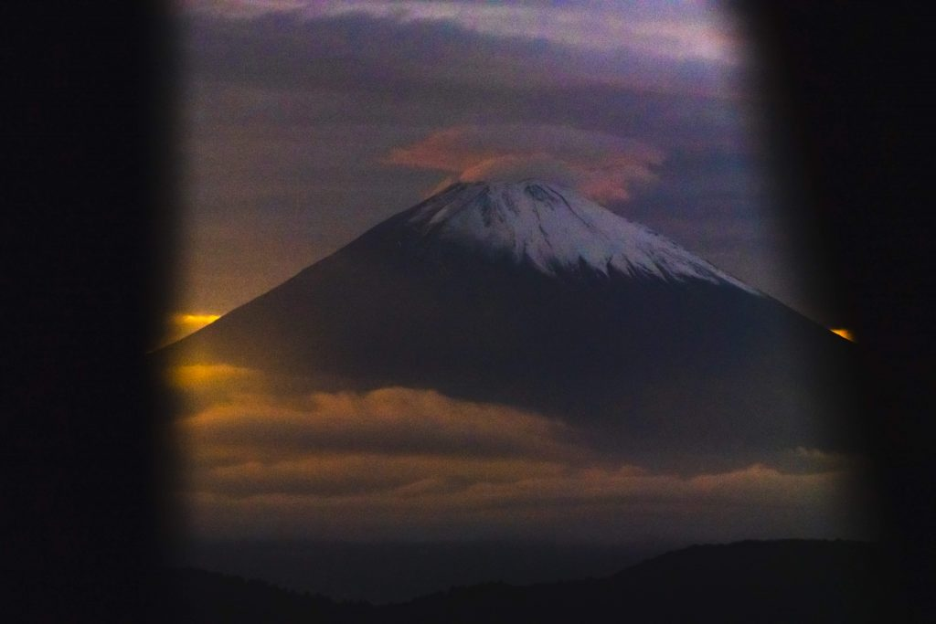 image of mount fuji above the clouds