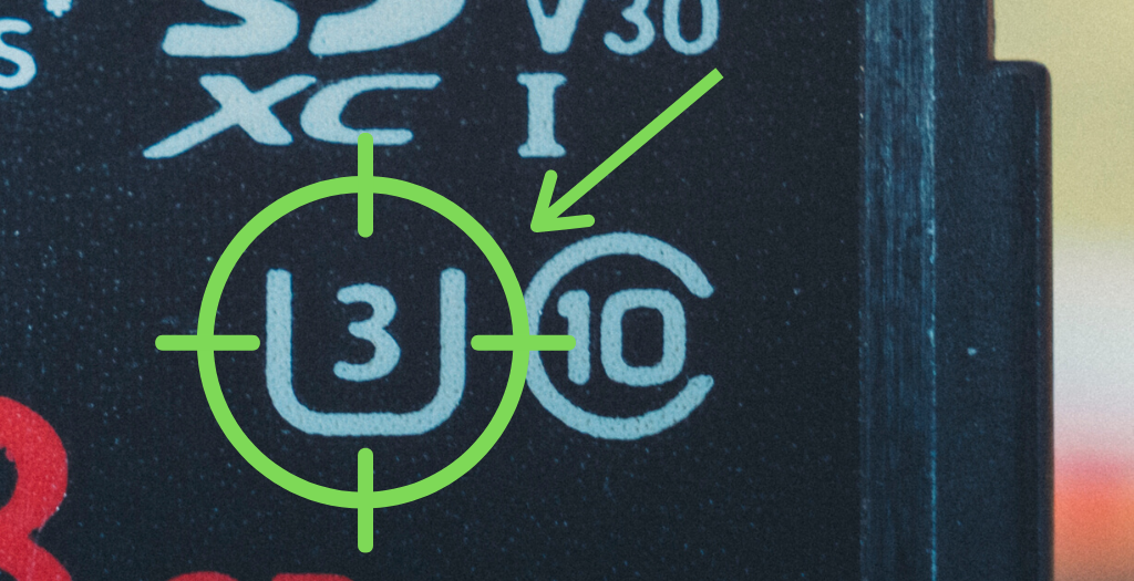 image of ultra high speed class symbol on sd card