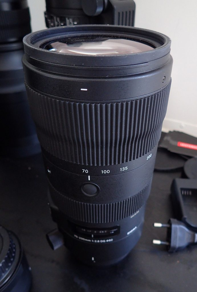 image of sigma 70-200mm f2.8 on a desk