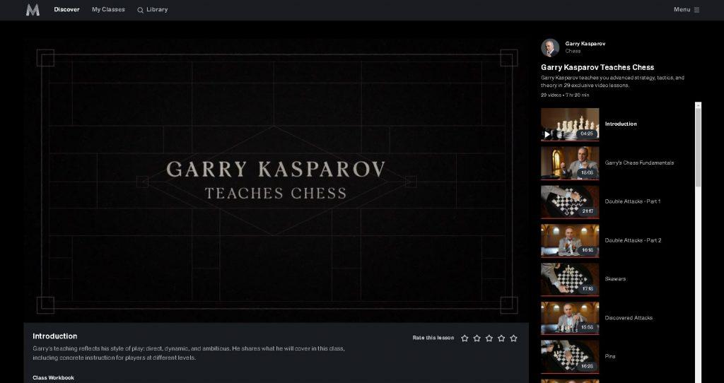 introduction text for kasparov teaches masterclass