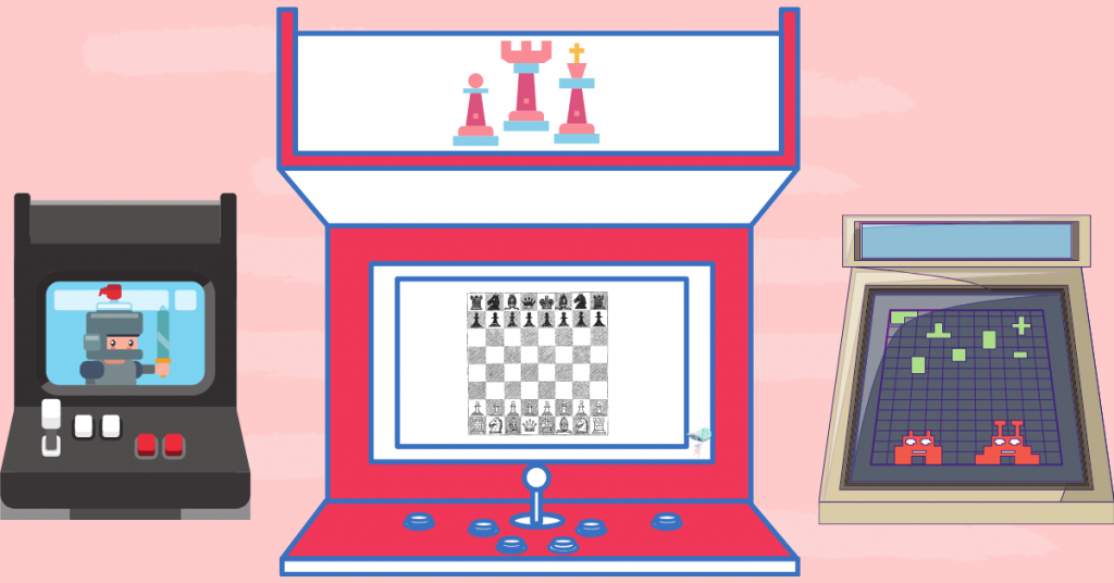 illustration of a chess video game