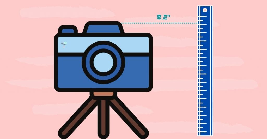 illustration of the minimum height of a tripod