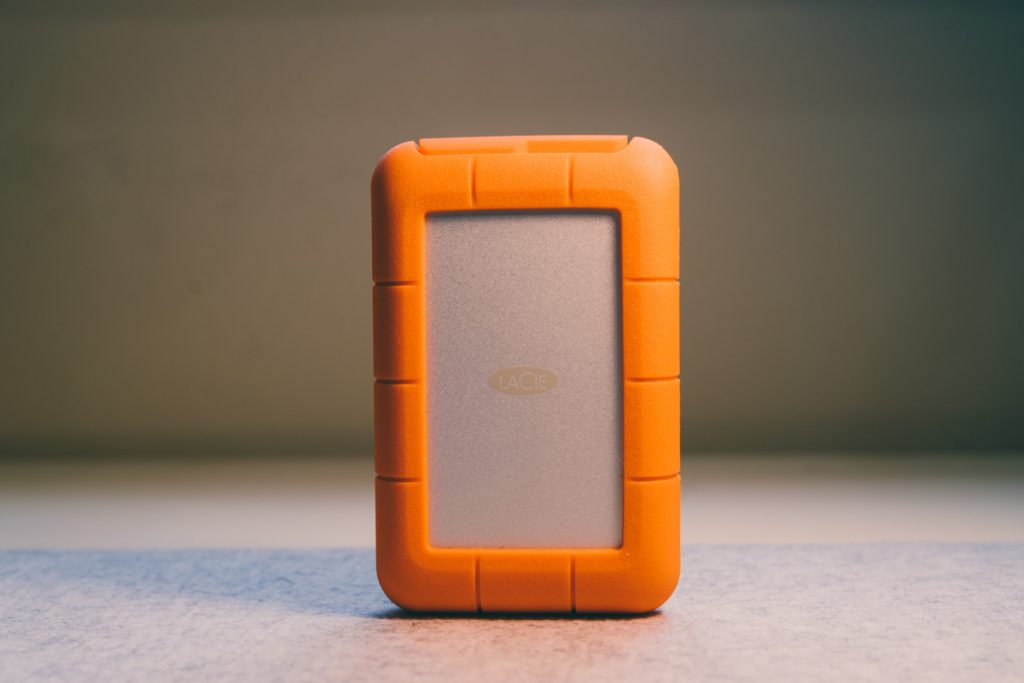 lacie rugged raid pro hard drive standing up
