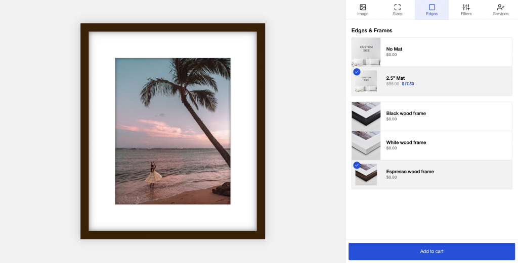 framed print options in canvaspop