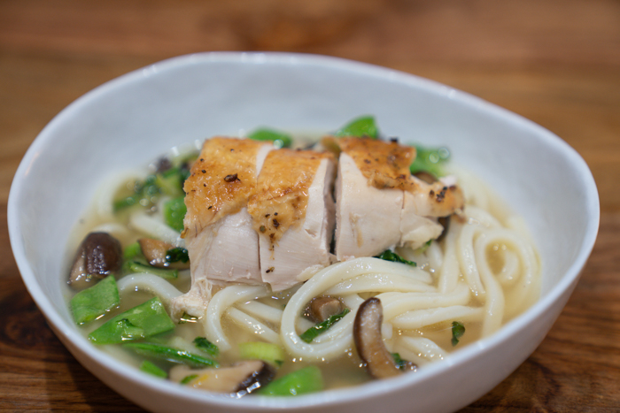 image of chicken breast udon soup