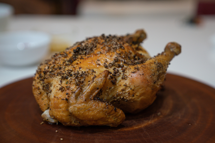 image of roasted chicken on a cutting board