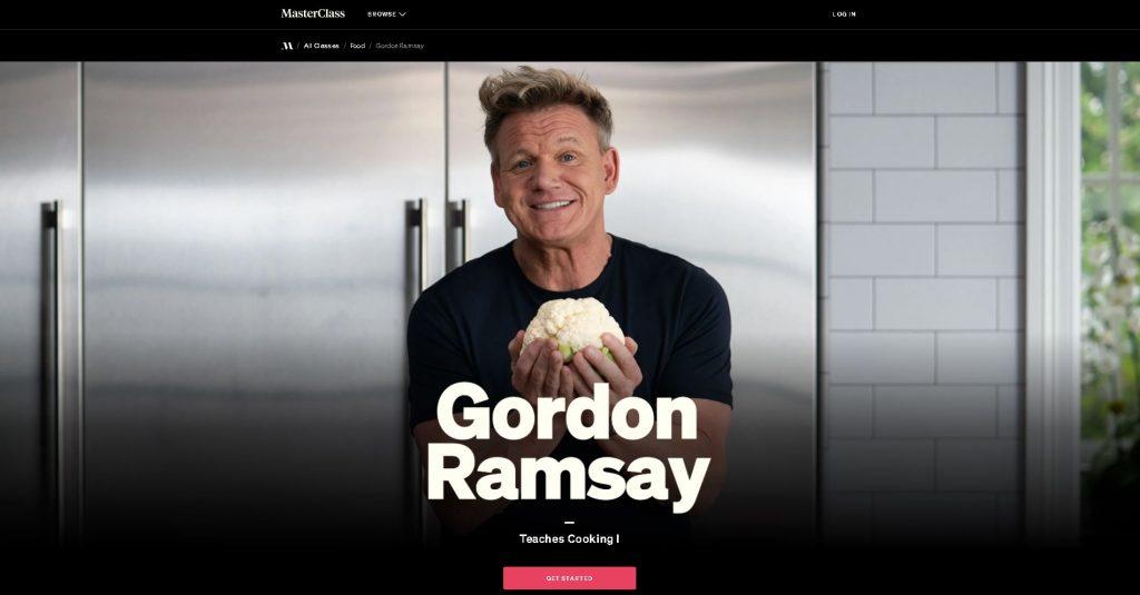 front screen of gordon ramsay masterclass