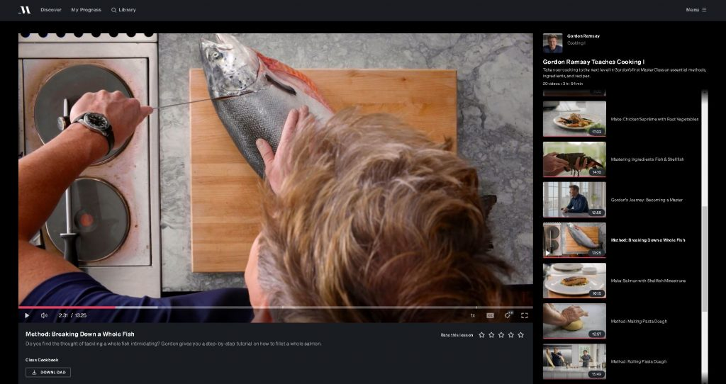 image of filleting a salmon