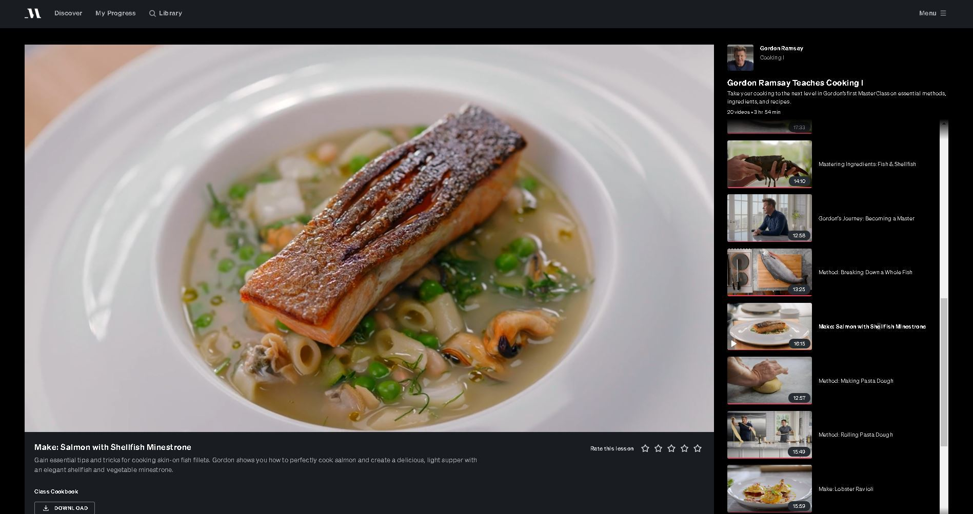 image of a seared salmon filet on top of soup