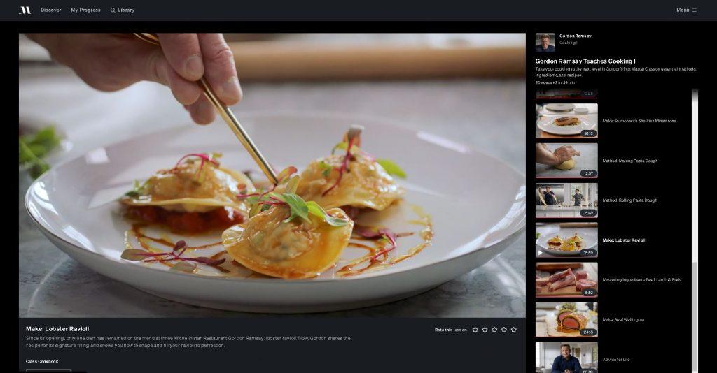 image of ravioli being plated
