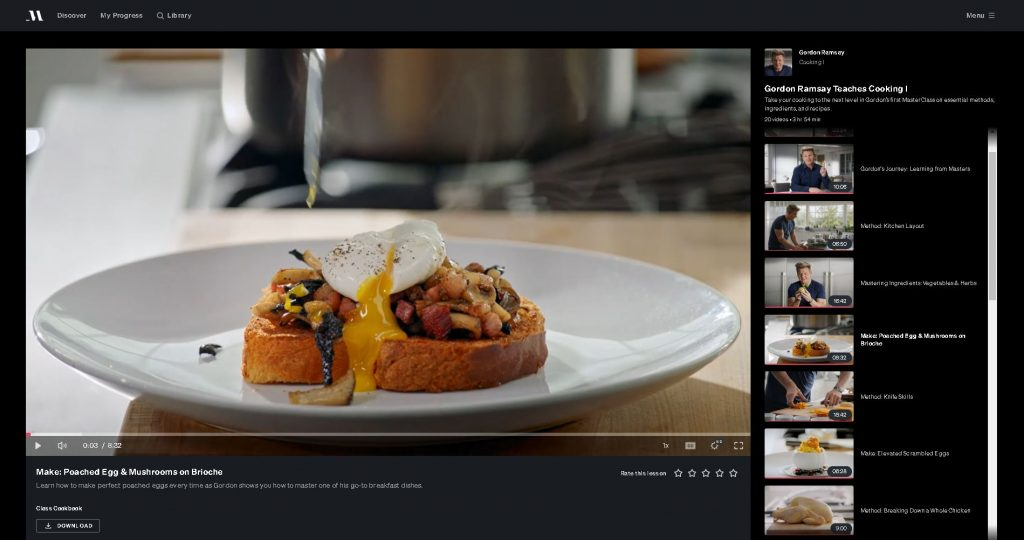 image of image of one of the classes for gordon ramsay masterclass