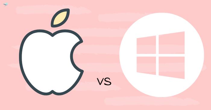 illustration of mac vs windows