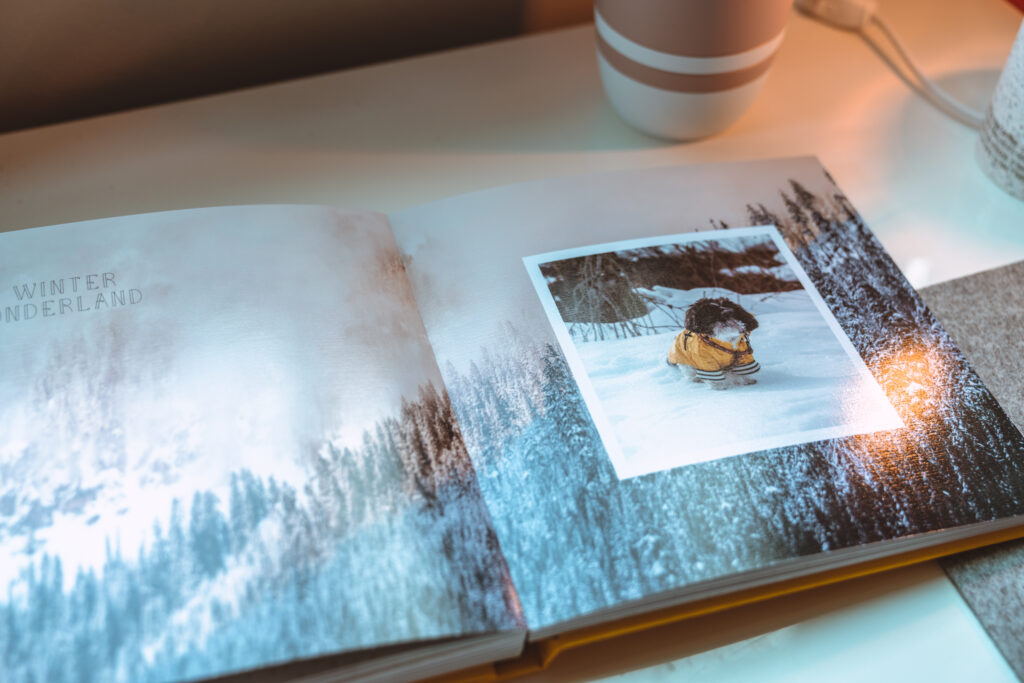 image of photo book laid open