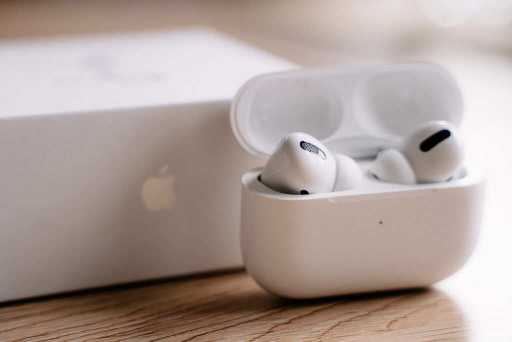 image of airpods pro on a table