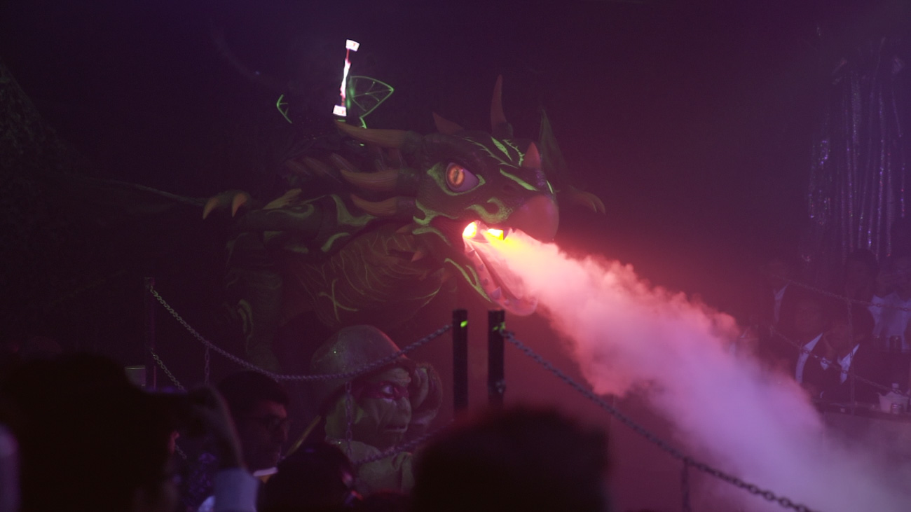 image of a robot dragon spitting fire