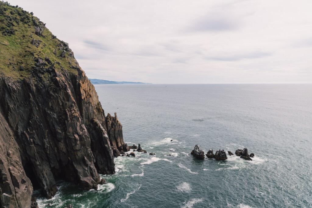 sea cliffs from elk flats overlook trail