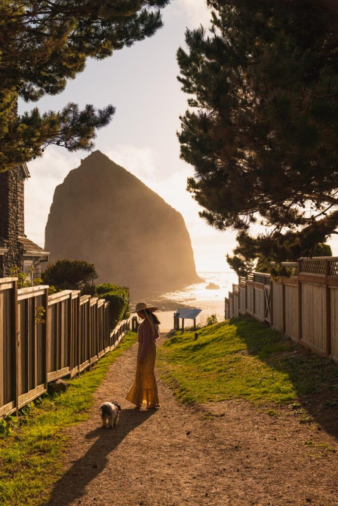 image of path leading to haystack rock