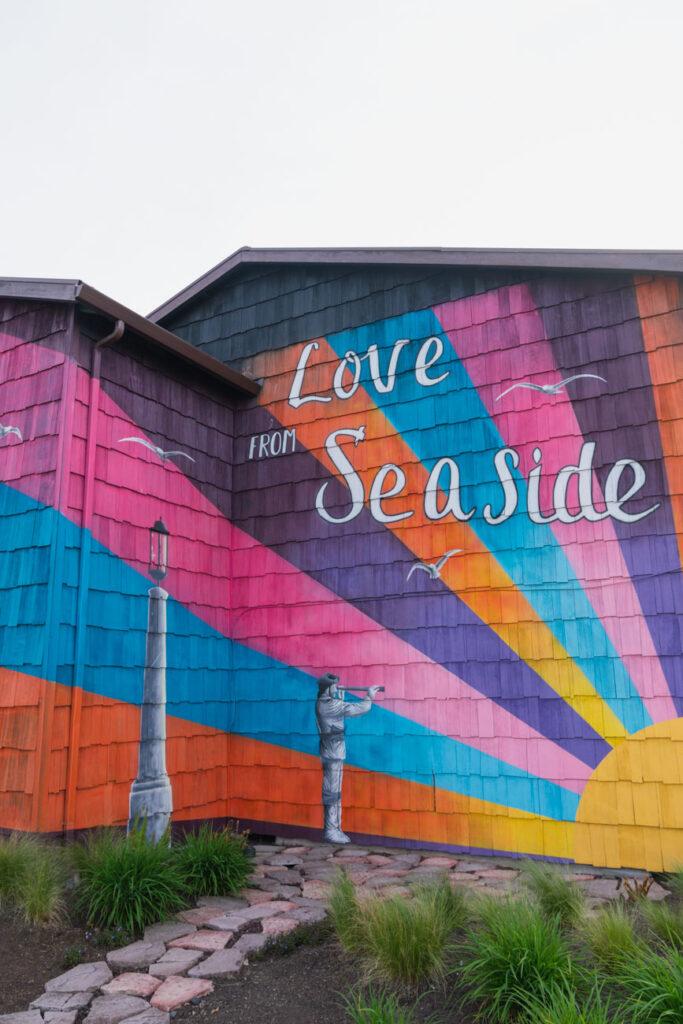image of mural in seaside oregon