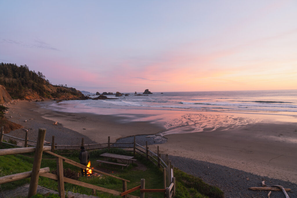 image of indian beach in ecola state park