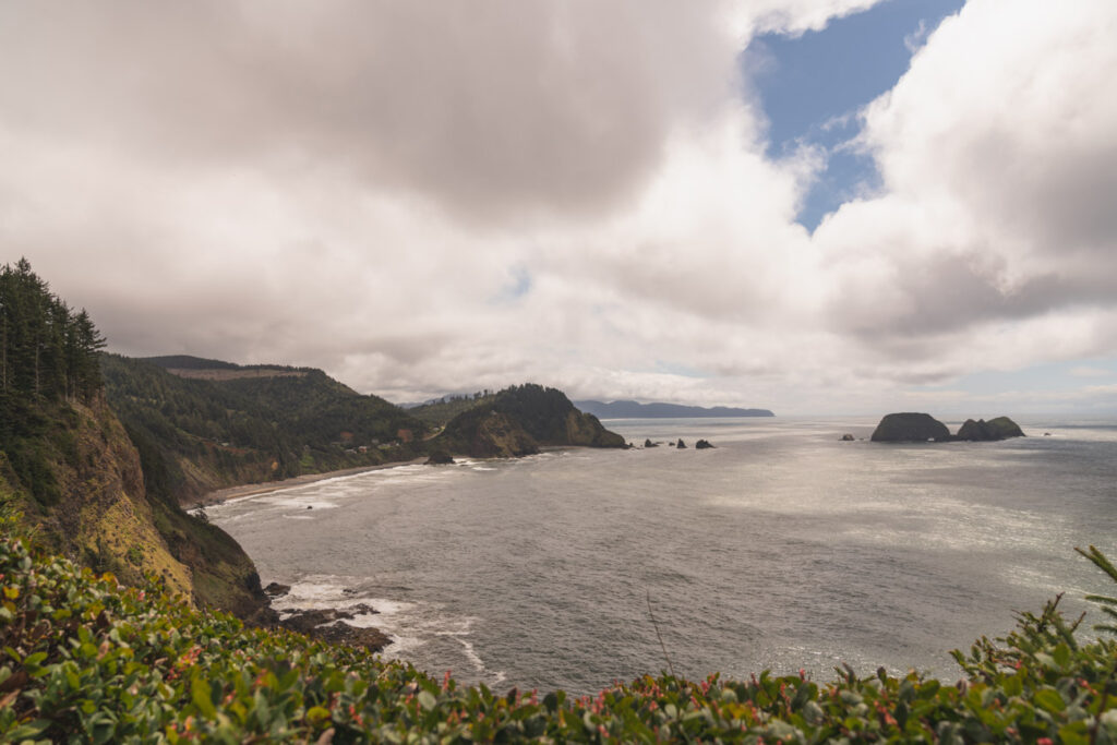 image of oregon coast from cape meares state scenic viewpoint