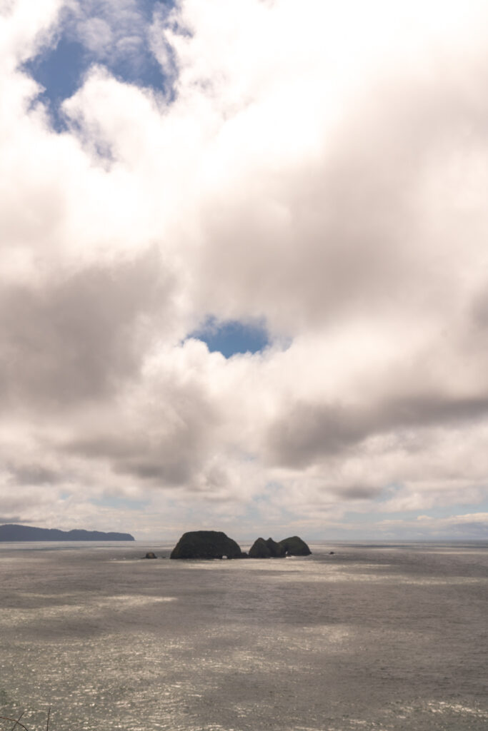 image of Three Arch Rocks National Wildlife Refuge from cape meares state scenic viewpoint