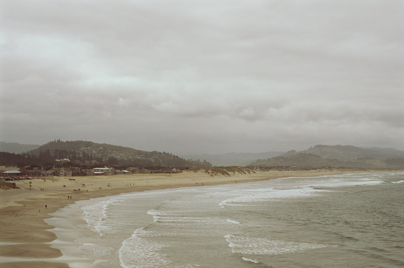 image of cape kiwanda from top of sand dune-1